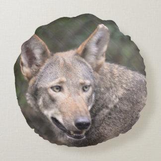 Lobo occidental cojín redondo
