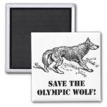 Lobo olímpico iman para frigorífico