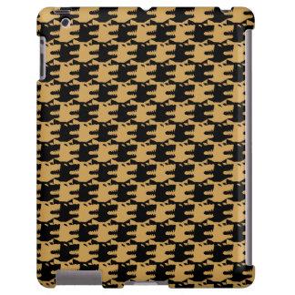 lobo ornamental del modelo indomable funda para iPad