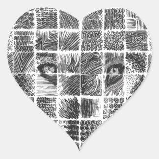 Lobo Pegatina En Forma De Corazón
