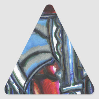 Lobo Pegatina Triangular