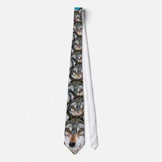 Lobo pintado corbata personalizada