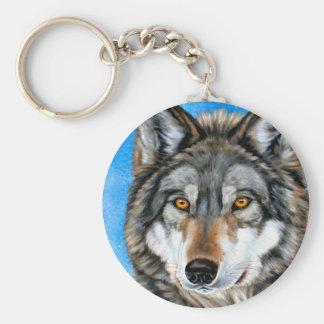 Lobo pintado llavero