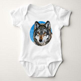 Lobo pintado mameluco de bebé
