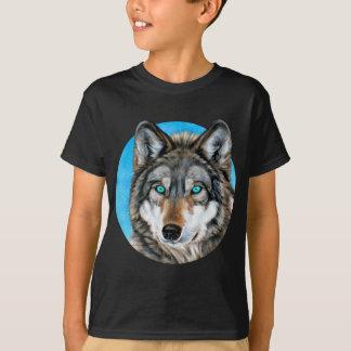 Lobo pintado (ojos azules) playera