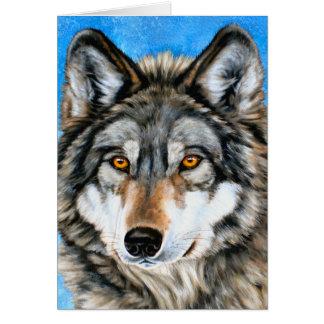 Lobo pintado tarjetón