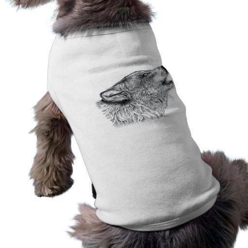 Lobo Playera Sin Mangas Para Perro
