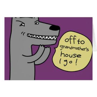 Lobo (púrpura) tarjeta pequeña