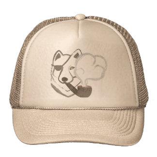 Lobo que fuma gorras
