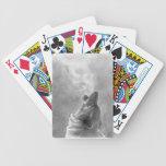 Lobo que grita baraja cartas de poker