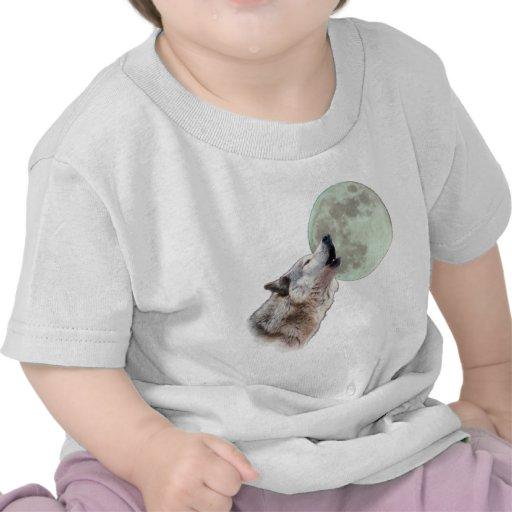 Lobo que grita camisetas