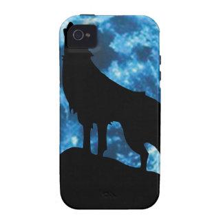 lobo que grita carcasa para iPhone 4/4S