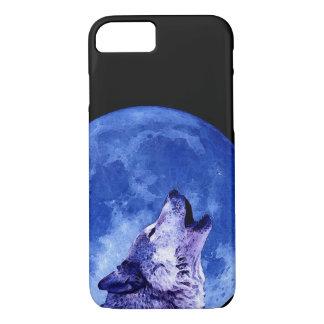 Lobo que grita en el caso del iPhone 7 de la luna Funda iPhone 7