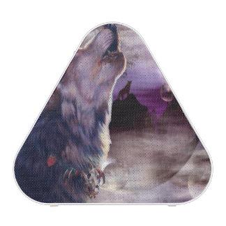 Lobo que grita en la luna altavoz bluetooth