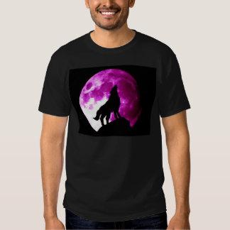 Lobo que grita en la luna camisas