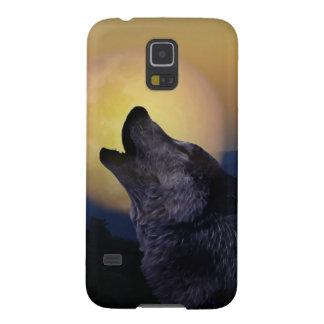 Lobo que grita en la luna carcasas de galaxy s5