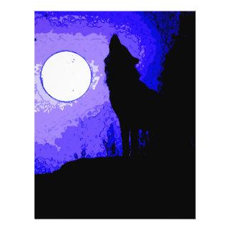 Lobo que grita en la luna tarjetas publicitarias