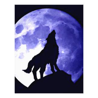 Lobo que grita en la luna tarjeta publicitaria