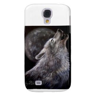Lobo que grita en la luna funda para galaxy s4