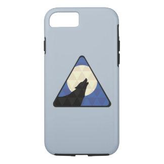 Lobo que grita en la luna grande con diseño del funda iPhone 7