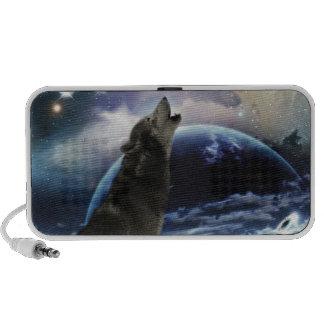 Lobo que grita en la luna iPhone altavoces