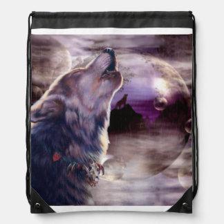 Lobo que grita en la luna mochilas