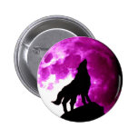 Lobo que grita en la luna pin