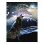 Lobo que grita en la luna plantillas de membrete