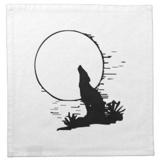 Lobo que grita en la luna servilleta