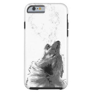 Lobo que grita funda de iPhone 6 tough