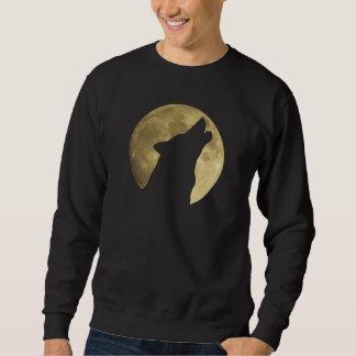 Lobo que grita la camiseta de la Luna Llena Pulovers Sudaderas