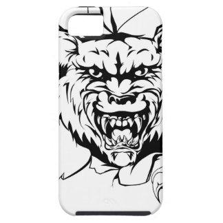 Lobo que rasga a través de fondo iPhone 5 carcasa