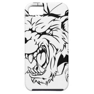 Lobo que rasga a través de la pared funda para iPhone 5 tough