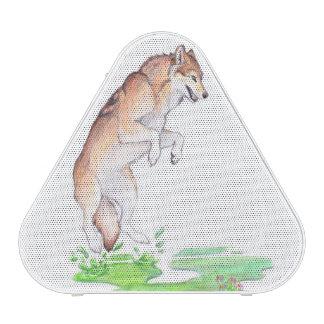 Lobo rojo marrón de la creación de la planta del altavoz bluetooth