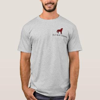 Lobo rojo T gris Playera