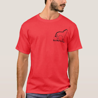 Lobo rojo T rojo Playera