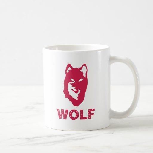 Lobo (rojo) tazas