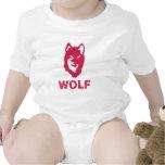 Lobo (rojo) trajes de bebé