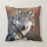 lobo salvaje almohada