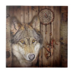 lobo salvaje del colector ideal indio nativo rústi azulejos ceramicos