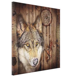 lobo salvaje del colector ideal indio nativo rústi impresión en lienzo