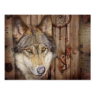 lobo salvaje del colector ideal indio nativo rústi tarjetas postales