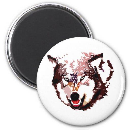 Lobo salvaje imanes de nevera