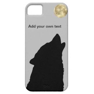 Lobo Sillhoutte con el caso del iPhone 5 de la Lun iPhone 5 Case-Mate Cobertura