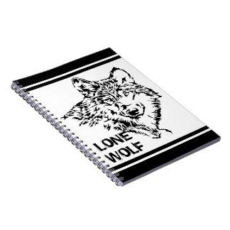 Lobo solitario 2 spiral notebook