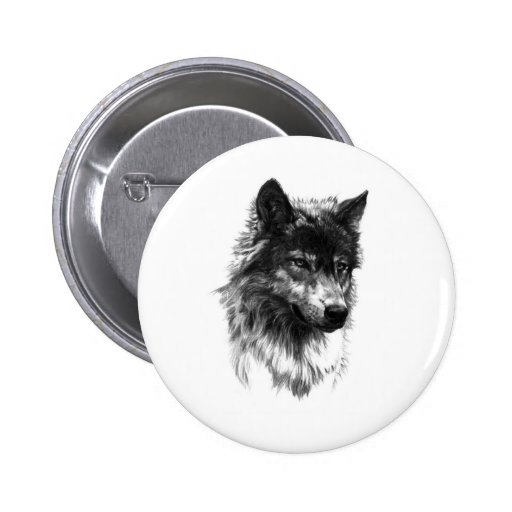 Lobo solitario - botón pins