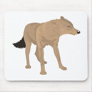 ¡Lobo solitario - colmillo del misterio! Alfombrillas De Raton