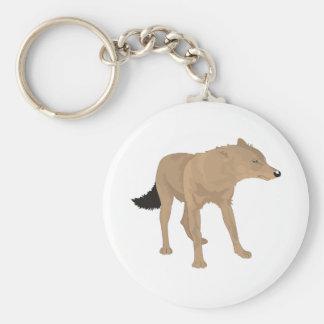 ¡Lobo solitario - colmillo del misterio! Llavero Redondo Tipo Pin