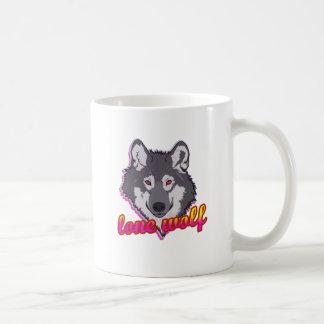 ¡Lobo solitario, estilo de los años 80! Taza
