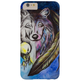 Lobo solitario funda de iPhone 6 plus barely there